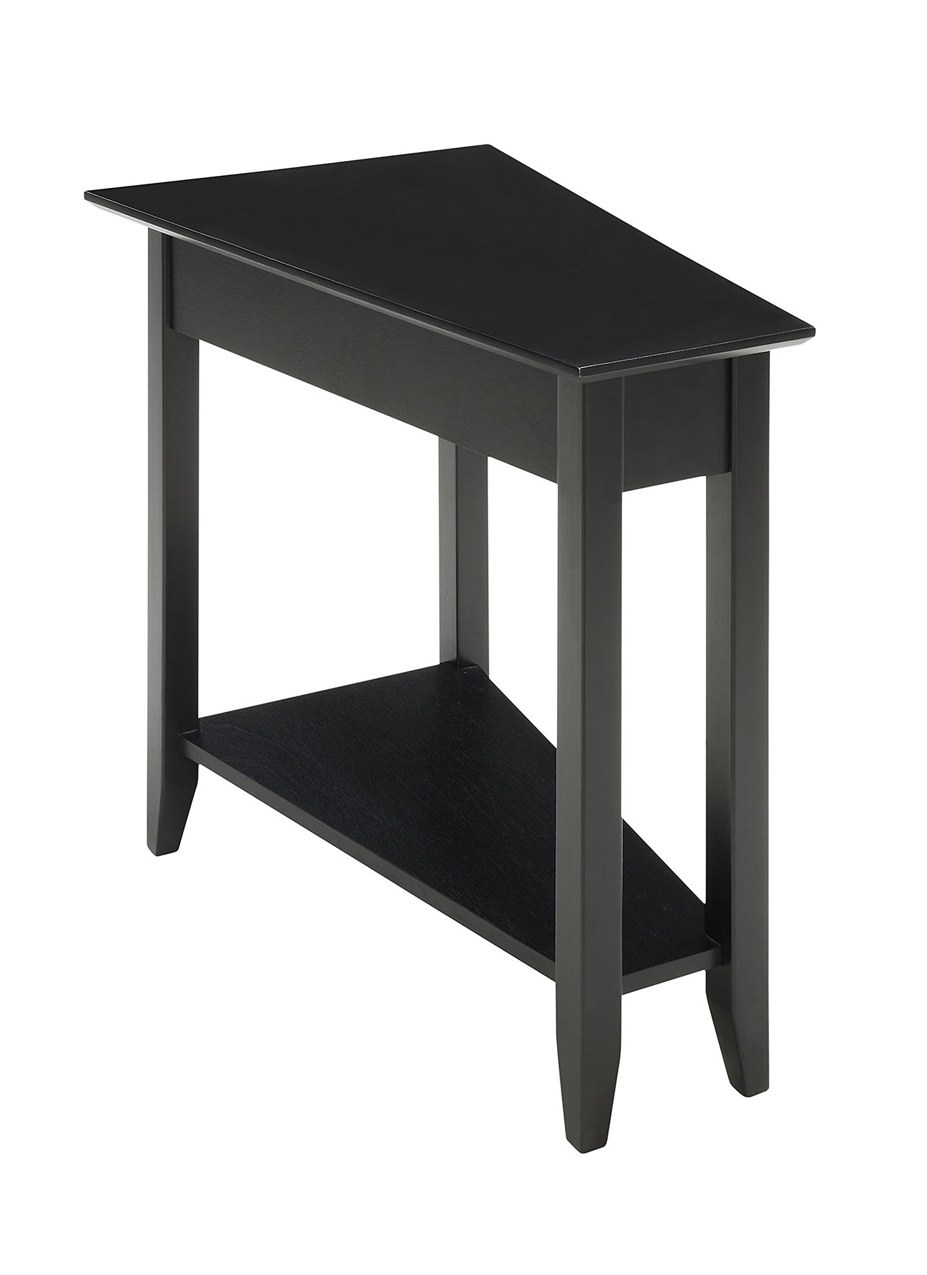 Convenience Concepts American Heritage Modern Wedge End Table, Black by Convenience Concepts