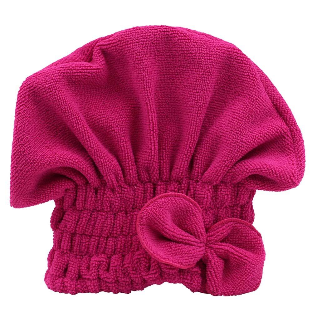 display08Mujer Cute Lazo para el cabello secado sombrero suave terciopelo Coral Microfibra Spa toalla turbante cap, azul, 9.44 x 7.48 9.44 x 7.48