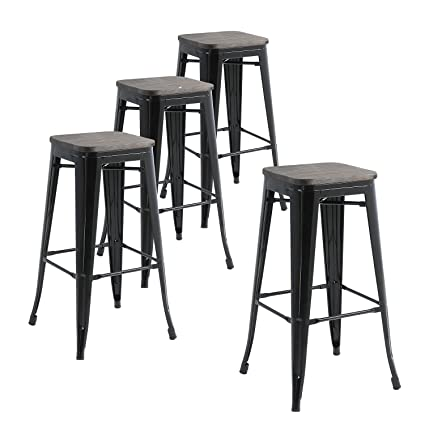 Amazoncom Buschman Metal Bar Stools 30 Bar Height Indooroutdoor