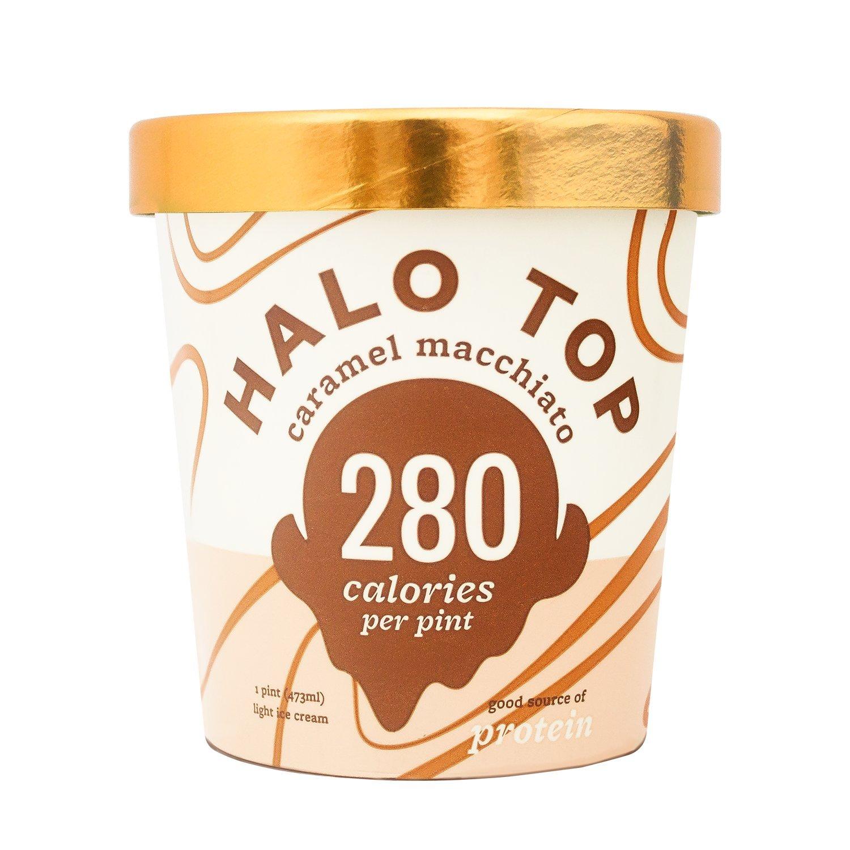 Halo Top Birthday Cake Ice Cream Pint Pack Of 8 Amazon Grocery Gourmet Food