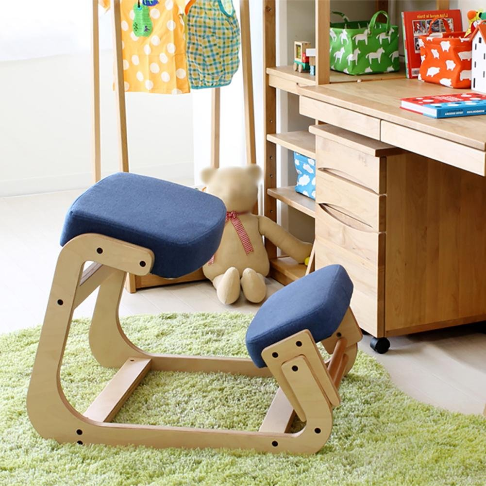 Kneeling chair Children's orthopedic chair Student chair Adult waist health chair Ergonomics Anti-myopia Anti-humpback computer chair Correction sitting posture chair The whole package Solid wood by YMSYMS (Image #1)