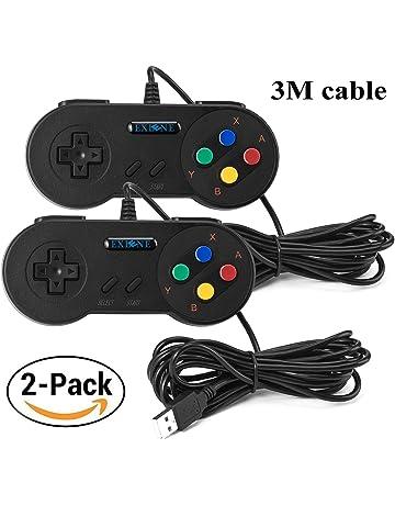 Exlene® Usb Controller Gamepads Joystick 10ft/3m (2pack),Usb Snes Controller