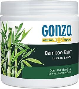 Natural Magic 4121D Odor Absorbing Gel, Bamboo Rain, 14 oz Jar, 12/Carton