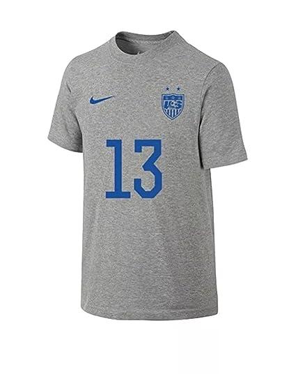 7d65d42238b Amazon.com   Nike Boys - Youth USA Hero Tee Alex Morgan  13 Gray T ...