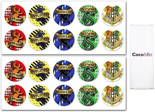 10 x Coco&Bo - Mágico magia Hogwarts Casas pegatinas del partido ...