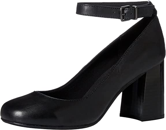 Kenneth Cole REACTION Womens Flip Around Round Toe Pump with Ankle Strap Dress