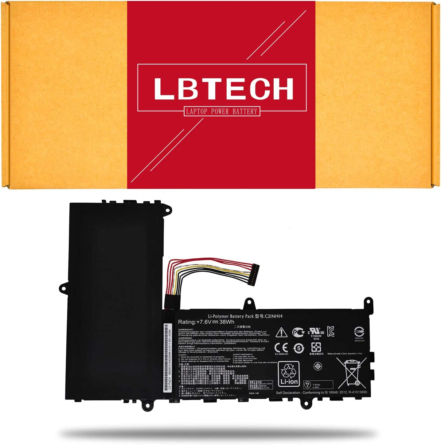 """LBTECH C21N1414 Compatible Laptop Battery Replacement for ASUS EeeBook X205T X205TA-BING-FD015B 11.6"""" Series C21PQ91 CKSE321D1 7.6V 38Wh"""