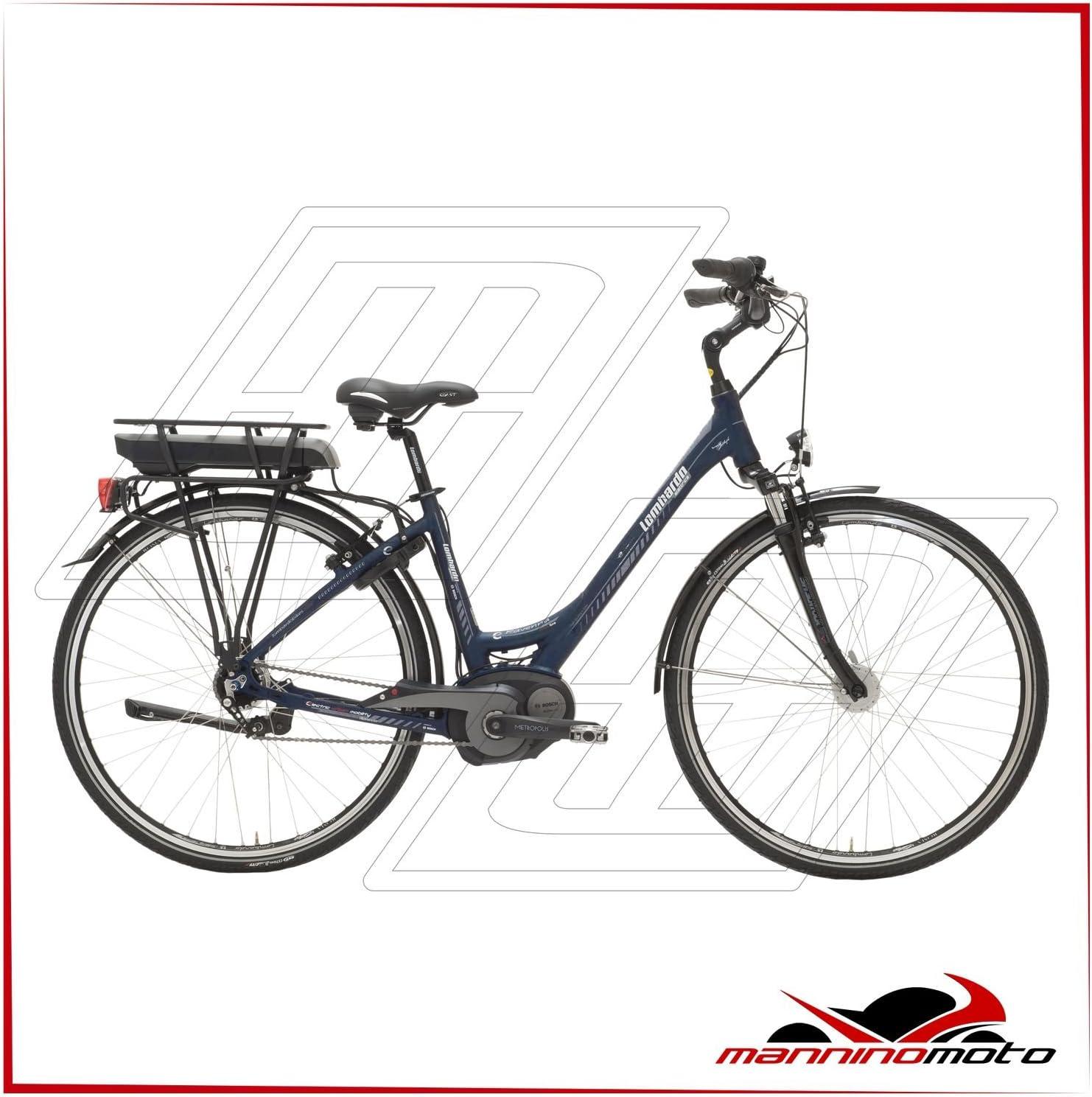 Bicicleta eléctrica Lombardo 28 e-ravenna Classic Motor Bosch Active – 400 Wh – 2017, BLU,BIANCA: Amazon.es: Deportes y aire libre
