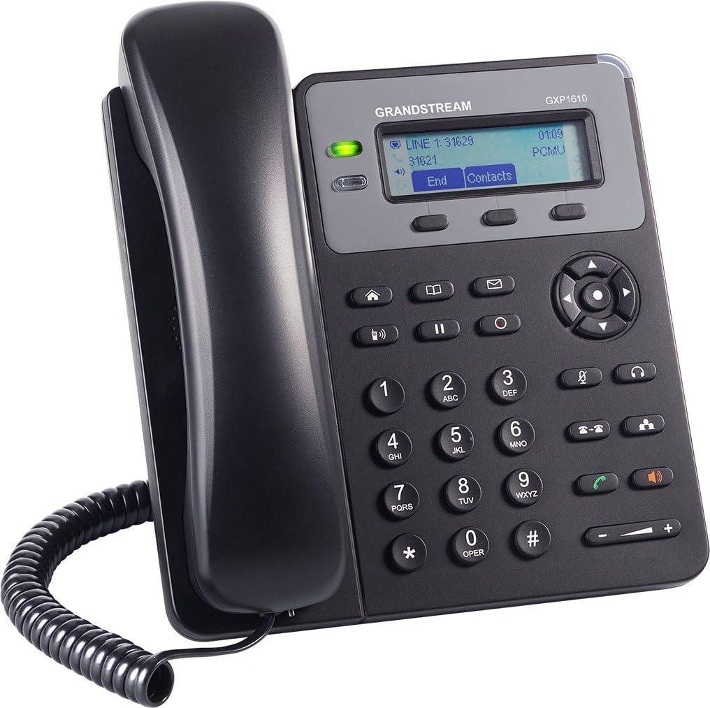 Grandstream GXP1610 T/él/éphone Filaire Noir