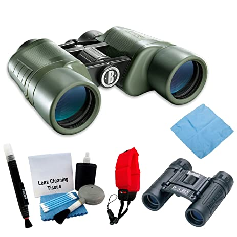 Bushnell 224208 NatureView 8x42mm Binoculars Powerview 8x21mm Folding Roof Prism Accessory Kit