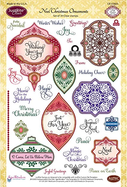 JUSTRITE Holiday Magic Clear Stamp Set