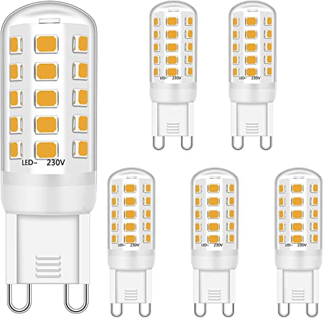 4x Halogen Lampe G9 205 Lumen 18W warmweiß dimmbar G 9 Glühlampe Birne Lampen