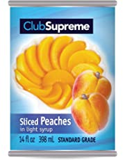 Club Supreme Canned Fruit - Sliced Peaches in Light Syrup 398Ml / 14 Fl Oz