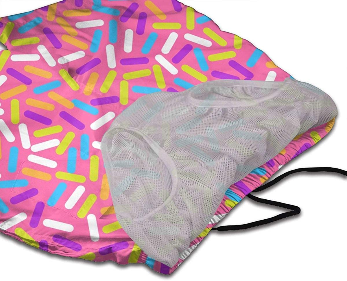 Donut Sweet Glaze Pattern Mens 3D Printed Board Shorts Beach Shorts Swim Trunk