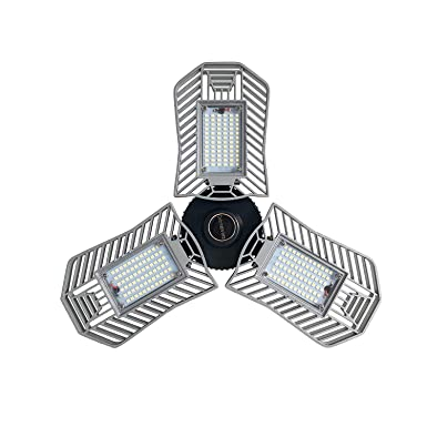 Led Garage Light Celing Lights With 8000 Lumens Cri E26 Led Bulbs