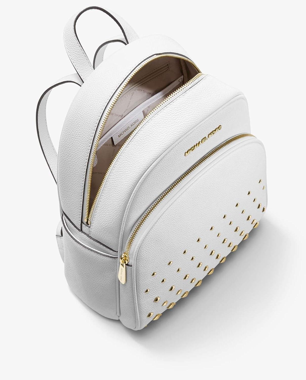 f3c22467bff8 Amazon.com | Michael Kors Abbey Medium Studded Backpack Leather White Bag |  Casual Daypacks