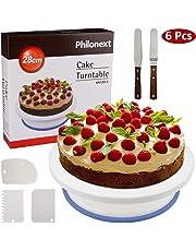 Philonext Plato Giratorio para Torta, artículos para decoración de tortas Todo en uno con espátula