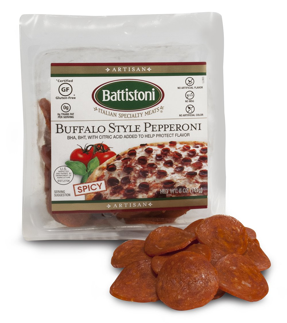 Buffalo Style Cup und Char Spicy Pepperoni