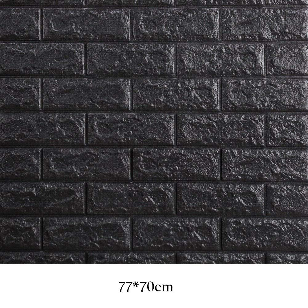 13 TJZY Creative Wallpaper Wall Stickers 3D Stereo 77  70 cm SelfAdhesive Waterproof Thickened Brick Pattern Stickers Bedroom Living Room Decoration   3