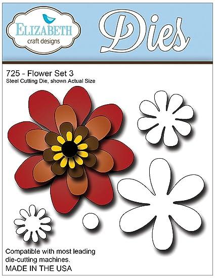 Elizabeth Craft Designs Metal Die Flower Set 3