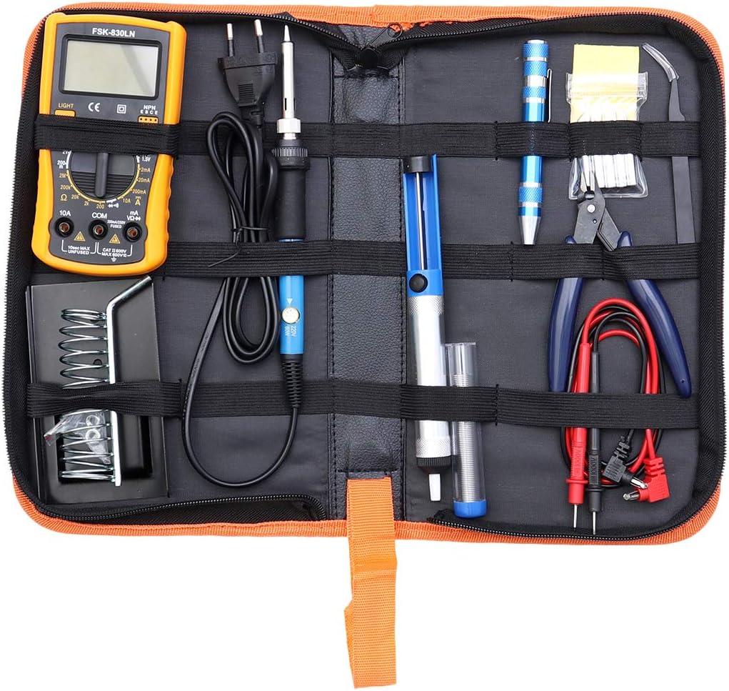 Vosarea Kit de soldador de soldadura Soldador de temperatura ajustable con bolsa de transporte