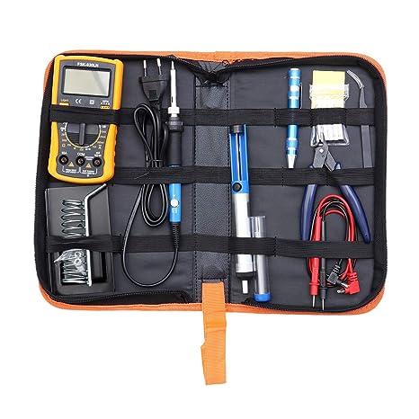 Vosarea Kit de Soldador de multímetro de Soldadura Herramienta de Soldadura de Temperatura Ajustable Herramientas de