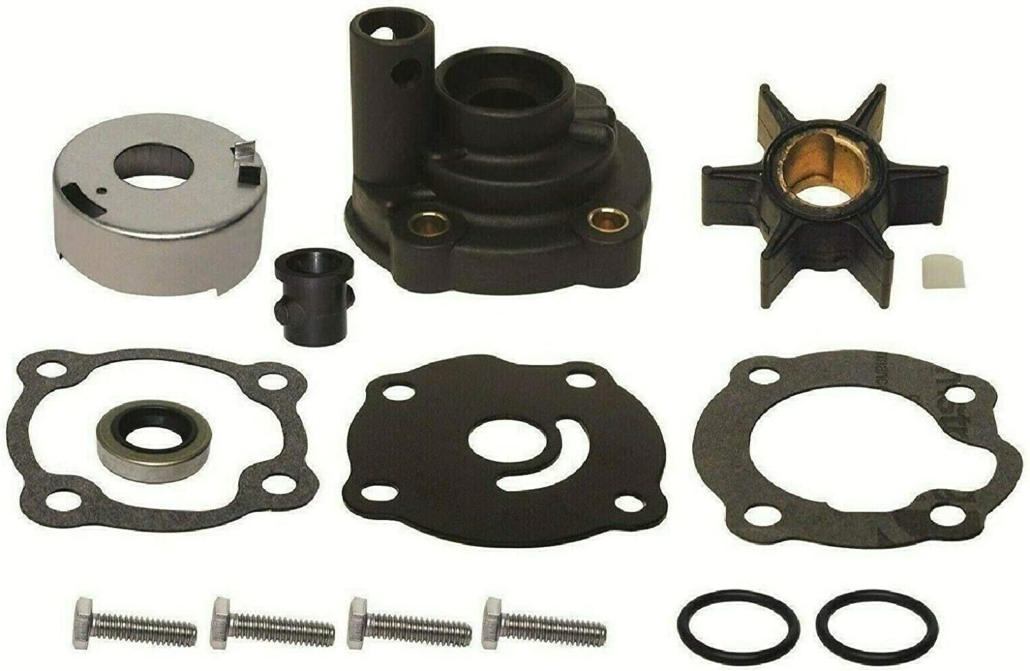 GLM Water Pump Impeller Kit with Housing for Johnson Evinrude 20, 25, 28 Hp 1979-1984 Replaces 395270, 18-3383 Read Item Description for Applications