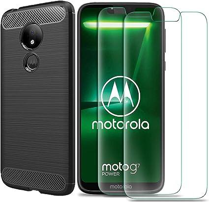 MYLBOO Funda Moto G7 Power con Protector de Pantalla,[3 en 1 ...