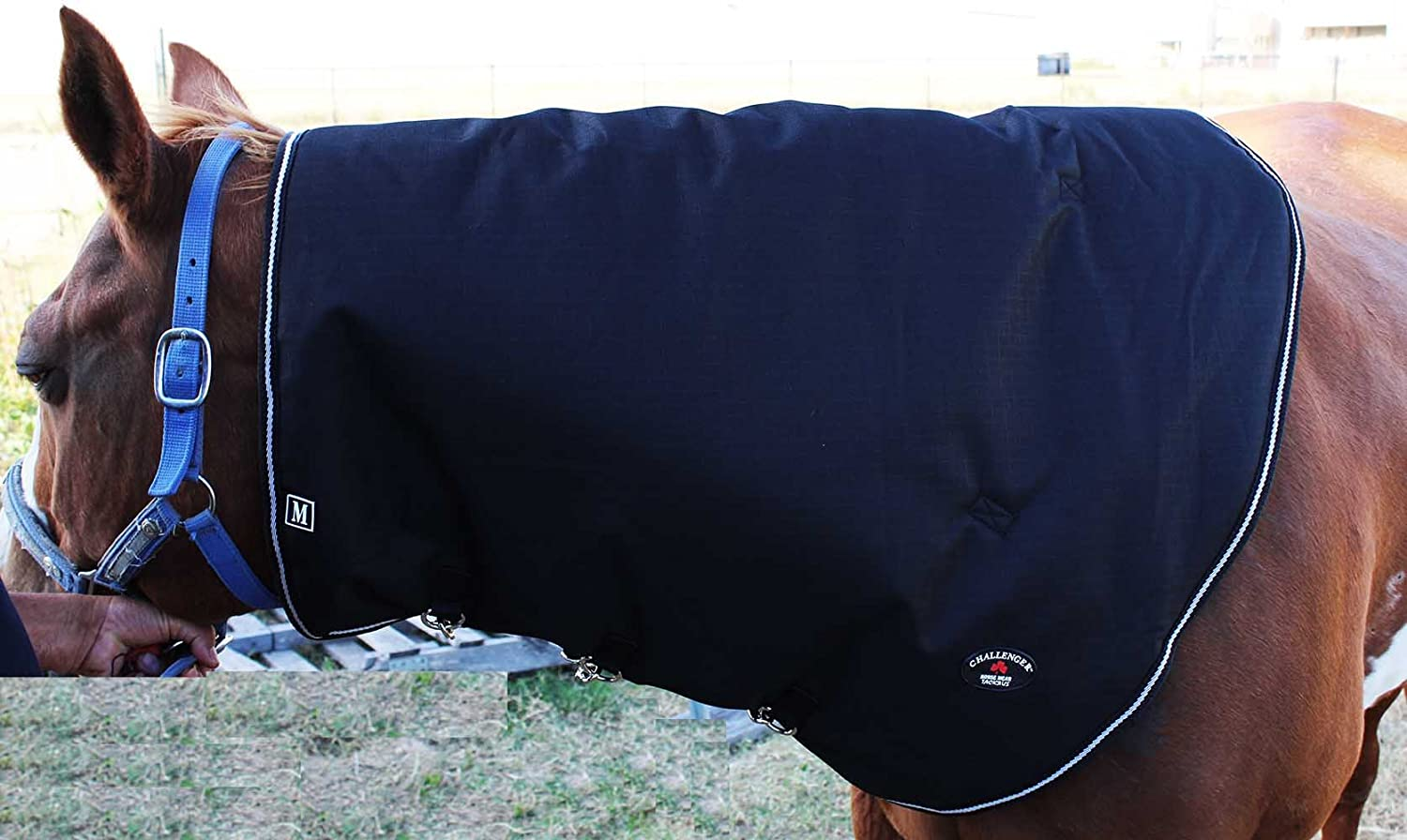 CHALLENGER Large Horse 1200D Waterproof Winter Mane Neck Cover Blanket 52014 TackRus