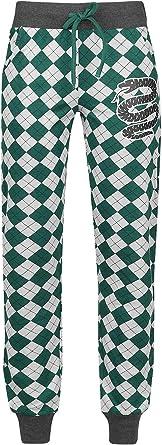 HARRY POTTER Slytherin Mujer Pantalón de Pijama Verde-Gris