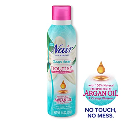 Amazon Com Nair Hair Remover Nourish Sprays Away Moroccan Argan