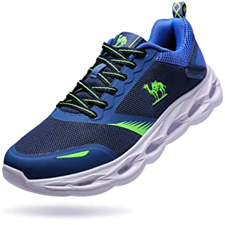 CAMEL CROWN Men's Trail Running Shoes Non Slip Workout Gym Sneakers Comfortable Tennis Athletic Walking Shoes Size 11 US Navy