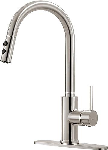 Kitchen Faucet, Kitchen Sink Faucet, Sink Faucet, Pull-down Kitchen Faucets, Bar Kitchen Faucet, Brushed Nickel, Stainless Steel, RULIA RB1018
