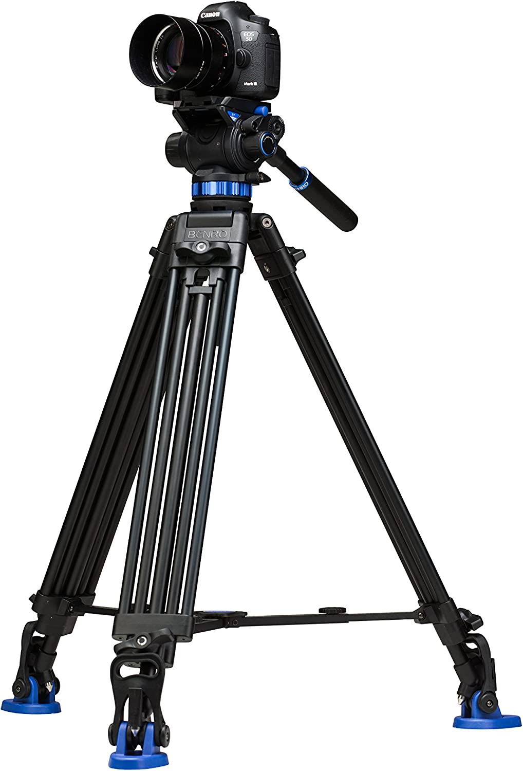 Benro C373F Series 3 CF Video Tripod & BV4H Head - 3 Leg Sections, Flip Lock Leg Release (C373FBV4H)