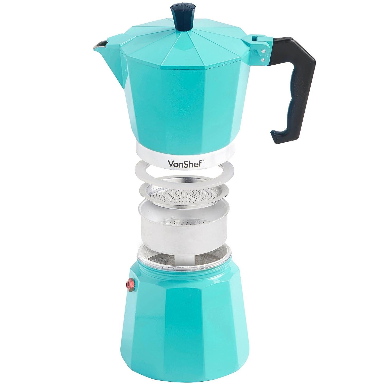Duck Egg Blue Kitchen Utensils Vonshef Espresso Coffee Maker Duck Egg 6 Cup 300ml Italian Style