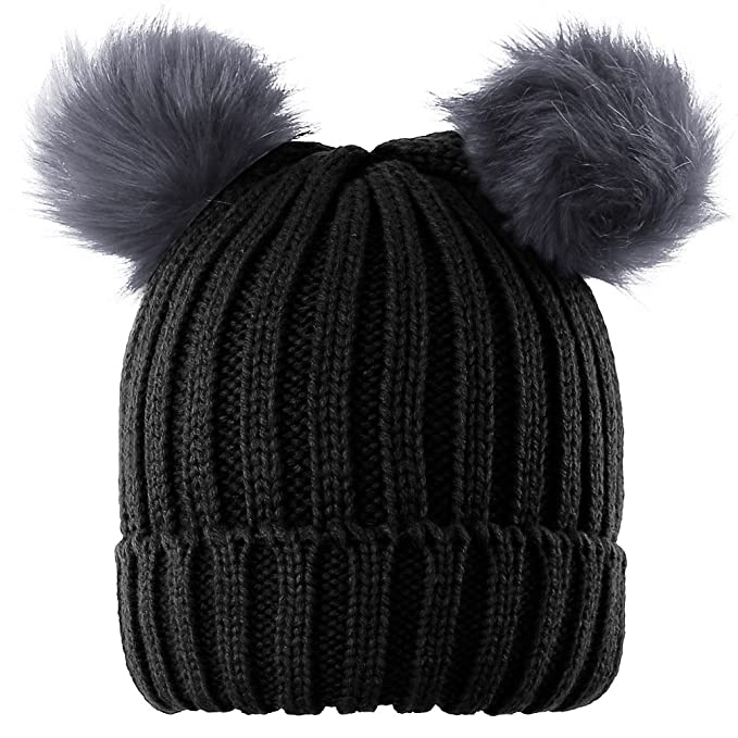 Image Unavailable. Image not available for. Color  Novawo Two Pom Pom Hat  ... adde40f19