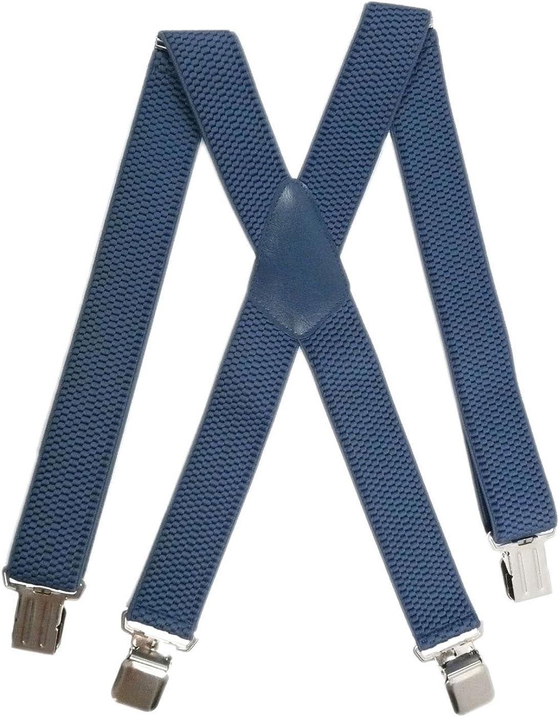 Olata Bretelle regolabili Extra Forte 4 Clip X-Forma 4cm larghezza Abbigliamento da Lavoro