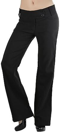 Womens black bootcut dress pants
