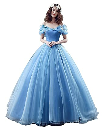 Banfvting Lace Up Ball Gown Formal Prom Cinderella Quinceanera Dress