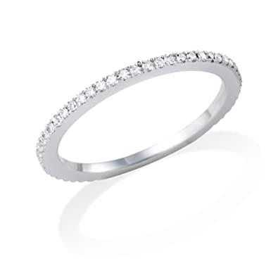 Miore MP005 Eternity Ring 18 ct White Gold Diamond Eternity Ring