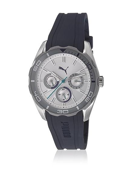 Puma damen armbanduhr challengers chronograph quarz edelstahl