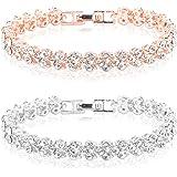 Women Bracelet Fashion Roman Style Women Crystal Rhinestone Jewelry Bracelets Gift for Christmas