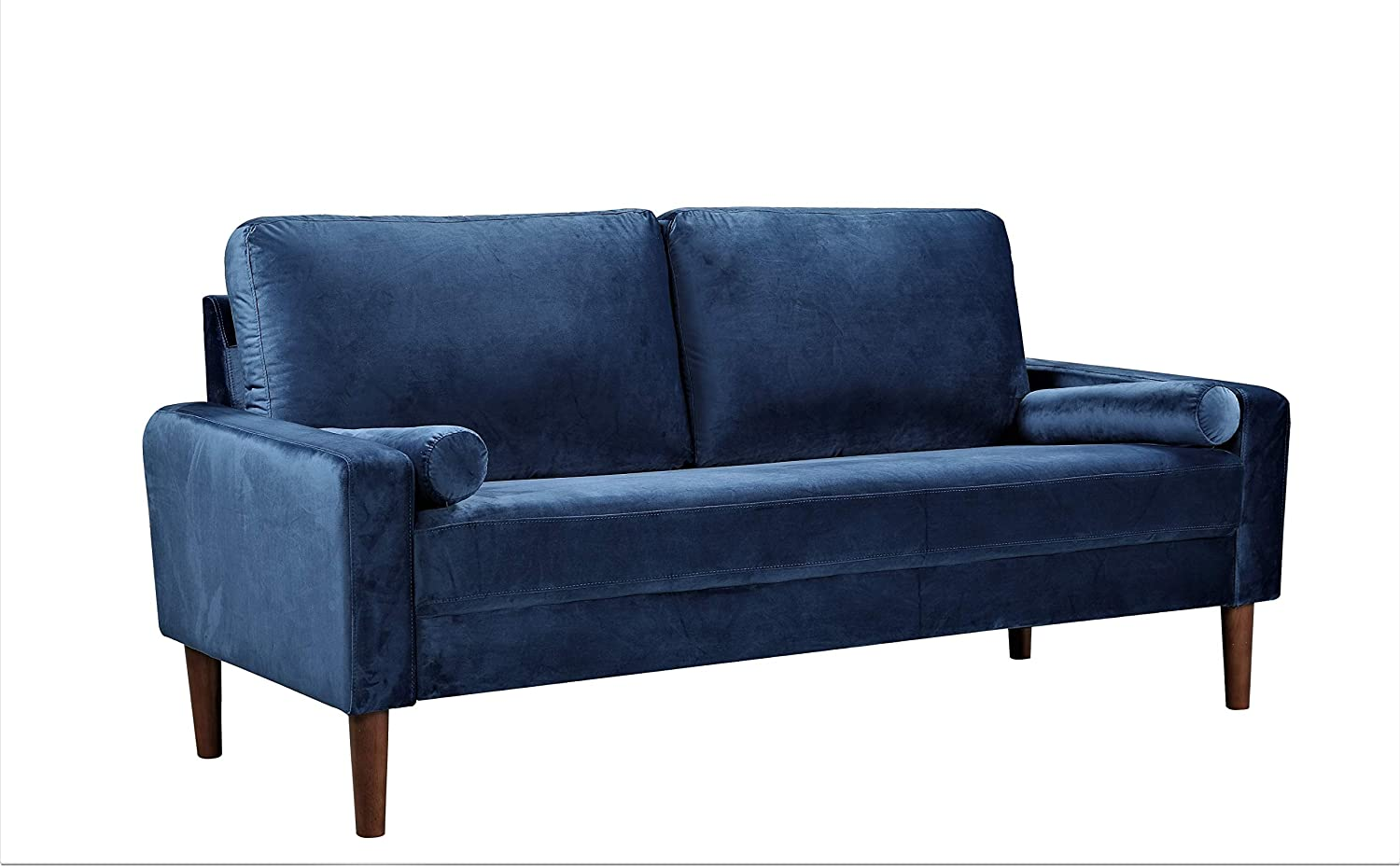Amazon.com: US Pride Furniture S5523-S Sofas, Dark Blue ...