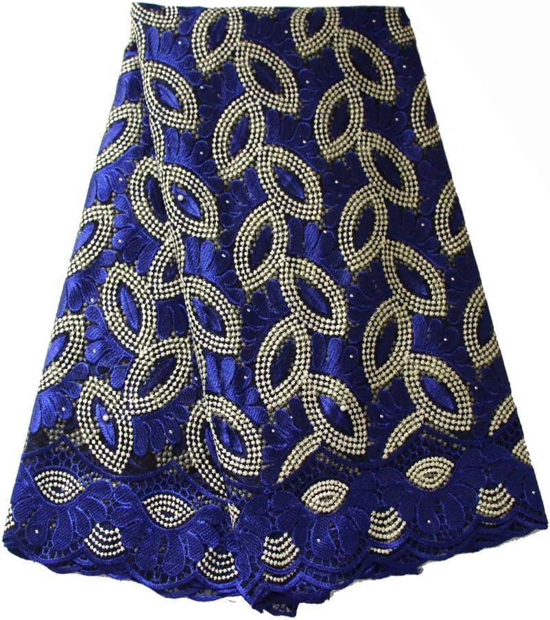 457,2 cm F50732 rose Tissu en dentelle africaine fran/çaise nig/ériane Tissu brod/é pour f/ête de mariage