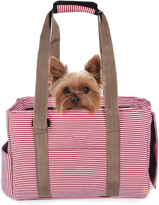 PETCUTE Bolsa de Transporte para Mascotas Transportín para Perros Portador de Mascotas Bolsa de Transporte para Gato Perros en avión: Amazon.es: Productos para mascotas