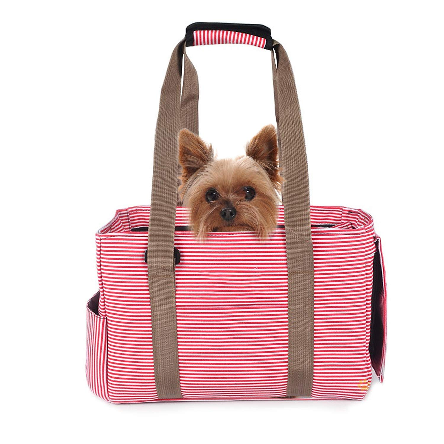 Pink M Pink M PETCUTE Pet Carrier Cat Carrier Bag Cat Carry Bag Travel Carriers for Small Animals Airline Approved Pet Travel Carrier (Pink, M)