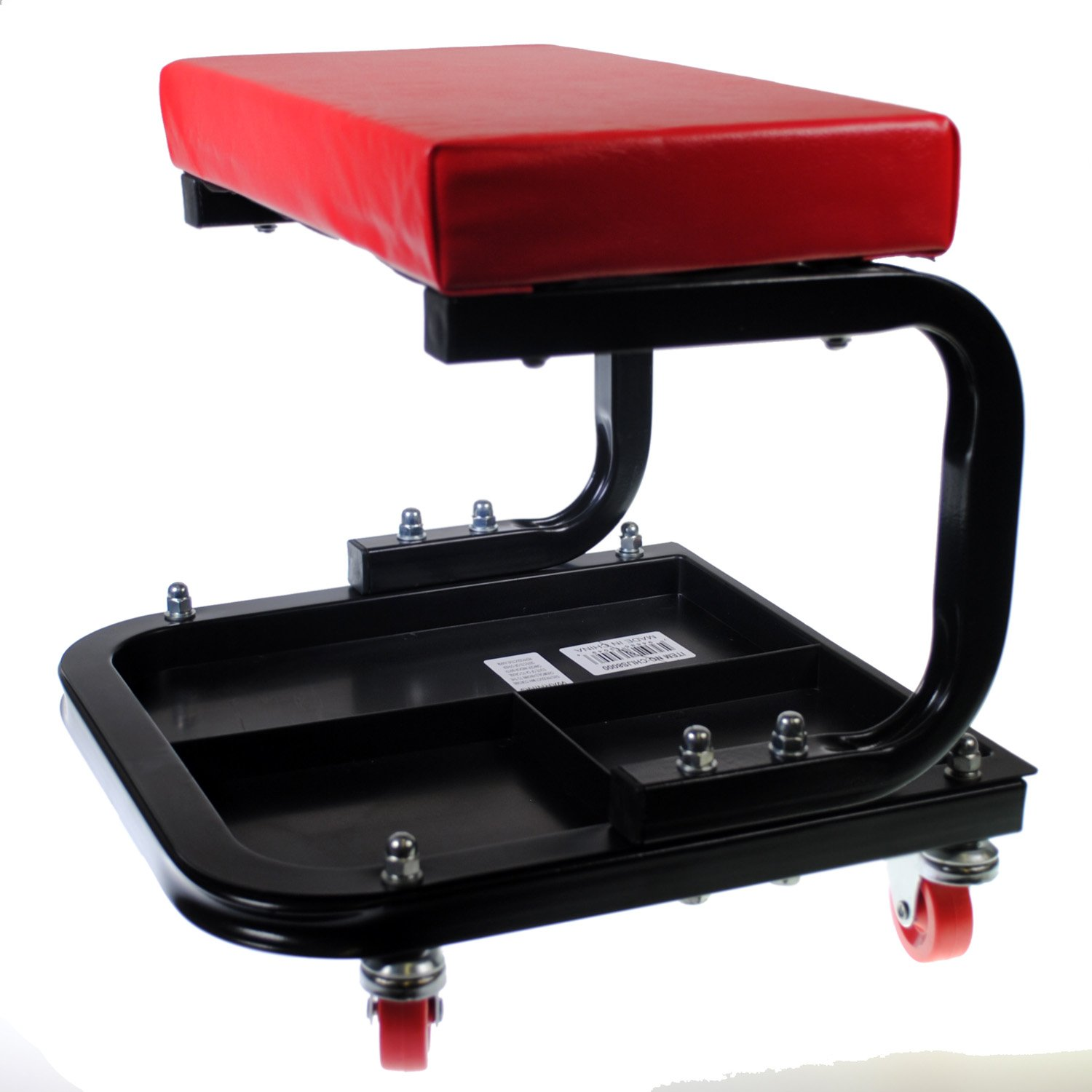 Pit Bull Rolling Mechanic Creeper Seat with Onboard Storage - 250 lbs Capacity