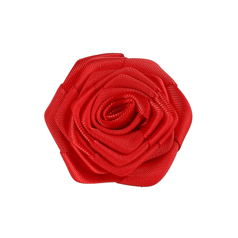 Umo Lorenzo Carnation Boutonniere Lapel Pin Red SE-FLP1801-RED