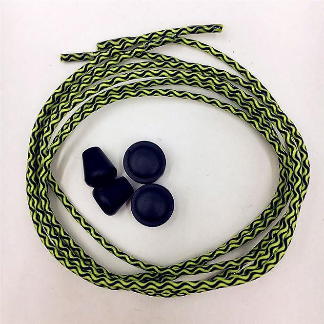 DeKaWei 5pares elástico cordones, no tie cordones para zapatillas, 5par reflectante cordones Lazy Lock sin bloqueo de corbata sistema de encaje elástico con cordones deporte cordones de bloqueo para