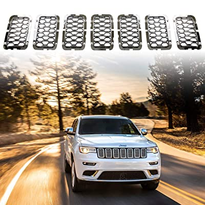 Latest Honeycomb Chrome Front Grill Inserts Fits Jeep Grand Cherokee 2020-2020 7PC Silver: Automotive [5Bkhe0117451]